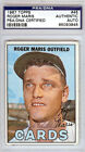 Roger Maris Autographed Signed 1967 Topps Card #45 New York Yankees PSA 65093845