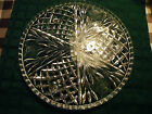 Vintage Round Clear Cut Footed Cake Plate 12