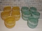 Lot of of 10 Vintage Spaghetti String Glass Drinking Glasses