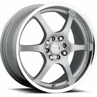 Raceline 126 16x7 5x110 5x1143 5x45 +40mm Silver Wheels Rims 126 67088S