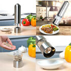 Electric Salt And Pepper Spice Kitchen Mill Grinder Shaker Stainless Steel