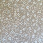 1 2 Yard Cotton Quilting Sewing Fabric Small Flower Vines Calico On Beige