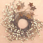 Rusty Star Twig Wreath Primitive Country Home Decor