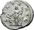 PHILIP I the Arab 247AD Rome Authentic Silver Ancient Coin SALUS i70066