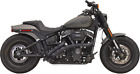 Bassani Black Radial Sweepers Exhaust System for 18 19 Harley Fatboy FLFB