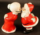 INARCO Kissing Santa Salt  Pepper Shakers 3 3 4 Great Condition NO Paint Loss