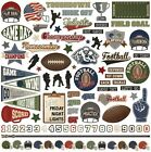 1 12x12 Sheet of Photo Play Paper END ZONE Football Theme Element Stickers