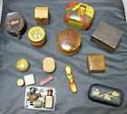 Job Lot of Mixed Material Trinket Boxes + Box of Miniature Items - Novelty Items