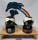 Vintage Black Americana Rainbow Base W Black Natives Fit into Holes S