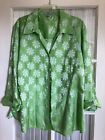 Foxcroft Fitted Green Floral-22W Blouse Sirt NOrdstrom no iron $75