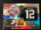 2003 LEAF LIMITED LIMITED THREADS TOM BRADY AUTOGRAPH JERSEY CARD #D 1 12.. 1 1!
