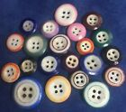 4-hole China Buttons (21) - Various colors