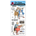 Art Impressions Perfect Duet Anniversary Clear Acrylic Stamp Set 4999 NEW