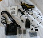 Nikon D200 102MP Digital SLR Camera Body Only w Battery Grip and Extras