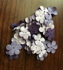 25 Recollections Purple Glitter Flowers Scrapbooking Embellishments