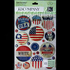 K  COMPANY Americana American Clearly Yours Badge Stickers Love USA Flag Stars