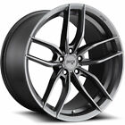 22x9 Gray Niche Vosso M204 Wheels 5x120 +38 Fits Land Rover LR3 Discovery