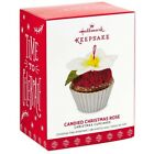 2017 Hallmark Candied Christmas Rose Christmas Cupcakes Ornament 8th in Series