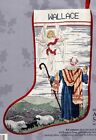 Candamar Angel and Shepherd Nativity Christmas Cross Stitch Stocking Kit 50506