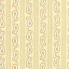 Moda Polka Dots and Paisley Cream with Tan Paisley Stripes Fabric 14803 12 BTY