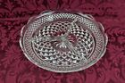 Anchor Hocking Wexford China Round Divided Serving Relish Tray Clear Glass 8.5