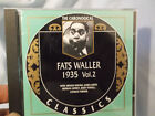 Fats Waller 1935 Vol.2 Cd Chronological Classics 760 French Import
