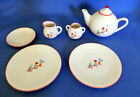 Pleasant Company Molly's China Tea Set AMREICAN GIRL 6-Pc Teapot,Creamer,Sugar +