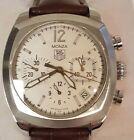 MENS TAG HEUER MONZA CR2114 AUTOMATIC CHRONO WATCH SWISS MADE BROWN BAND