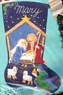 Bucilla Holy Nativity Manger Wiseman Stable Christmas Felt Stocking Kit 82825