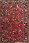 Antique 7x10ft All-Over Pattern Geometric Heriz Serapi Persian Oriental Area Rug