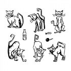 Stampers Anonymous Cling Mount Stamps Crazy Cats 30718 by Tim Holtz CMS251