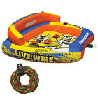 AIRHEAD AHLW 3 Live Wire 3 Inflatable 1 3 Rider Boat Towable Tube + 60 Tow Rope