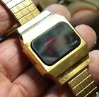 Vintage retro Timex men's red screen LED watch. 32mm.