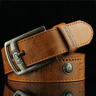 Men fashion Vintage Pin Buckle Leisure Jeans PU Belt casual Boy Student D