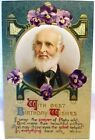 1910 POSTCARD BEST BIRTHDAY WISHES WITH POEM  PICTURE OF WHITTIER