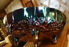 Vintage Indiana Glass Carnival Glass Footed Oval Fruit Bowl