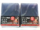 50 Ultra Pro 3x4 Thick Toploaders 100pt Toploader for Jersey Cards 2 Packs of 25