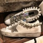 Women Pearl Making replica Dirty Board shoes Casual Flat Leather Sneakers sz Hot