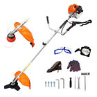 Gas Brush Cutter Trimmer 52cc Weed String Powered Lawn Grass w Shoulder Strap