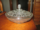 Vintage Indiana Glass Clear Windsor Candy Dish Pattern Glass Pressed Glass Lid