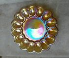 VTG MCM Indiana Glass Amber Carnival Hobnail Deviled Egg~Relish~Tray 11
