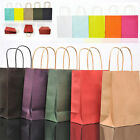 10 Colors Party Bags Kraft Paper Gift Bag With Handle Shop Loot Bag Recyclable
