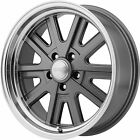17x9 Gray American Racing Vintage VN527 Wheels 5x4.5 +12 Lifted Fits Ford