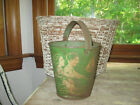 EXCELLENT RARE EARLY ANTIQUE SAND PAIL,BEACH BUCKET CHARMING MOTIF,COLOR AAFA NR