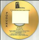 PODUNK Wings ULTRA RARE  GOLD TST PRESS PROMO Radio DJ CD Single 1999 USA MINT