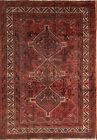 Pre-1900 Vegetable Dye Geometric Antique 6x8 Shiraz Persian Oriental Area Rug