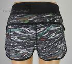 NEW LULULEMON Run Speed Short 2 10 Mini Sweatr Multi Black Gym Train Shorts NWT