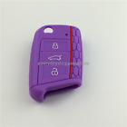 Remote Key Fob Cover Silicone Case Holder For Volkswagen Vw Mk7 Mkvii 3 Button