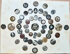 Antique Buttons Bakelite Stone? Mounted 9 1/2