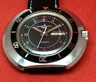VINT ULYSSE NARDIN DIVER AUTOMATIC BLACK DIAL DATE & DAY  Ca 47 swiss made